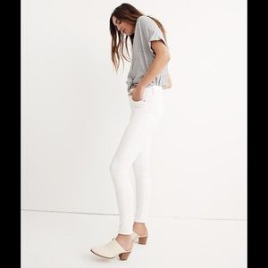 Madewell 9-Inch High-Rise pure white Skinny Jeans